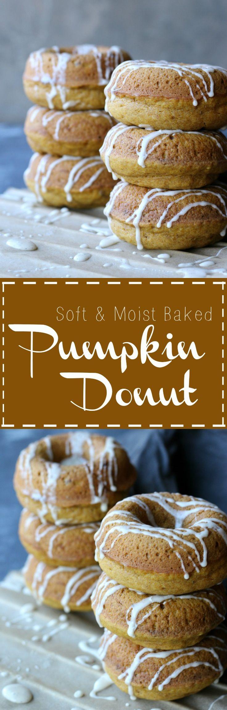 Soft Moist Easy Baked Pumpkin Donuts