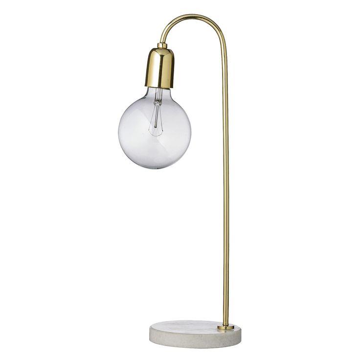 Bloomingville bordlampe fra Bloomingville. En dekorativ bordlampe i fine materialer. Lampens fot er ...