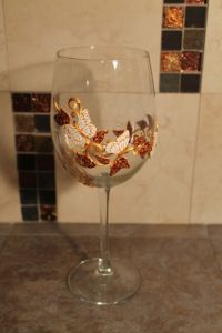Polymer Clay Fall Wine Glass