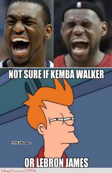 Kemba Walker vs. LeBron James! - http://weheartnyknicks.com/funny-nba-memes/kemba-walker-vs-lebron-james