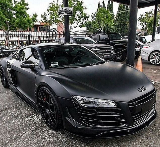 Audi R8 Matte Black Vehicles Pinterest