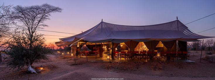 The gorgeous dining area and lounge at Kwihala Camp (part of Asilia Africa) in Ruaha National Park. Tanzania