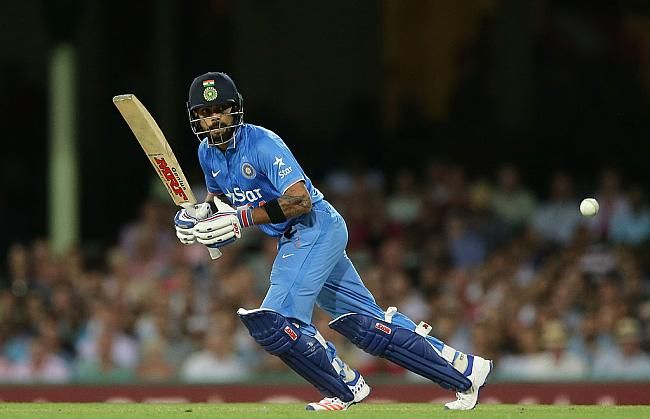 Virat Kohli stroked his way to a brilliant half-century, before getting bowled by Cameron Boyce. this was his third consecutive half-century in as many matches in the series