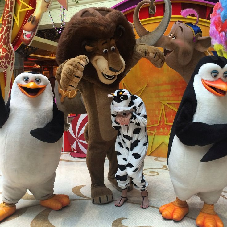 Please don't eat me! Found Alex the Lion and the Madagascar crew being cheeky in the foyer of The Conrad Macau.