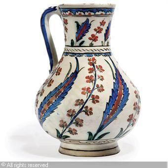 IZNIK CERAMIC, 16 > (Turkey)  Title : A JUG  Date : ca 1560  A JUG sold by Christie's, London, on Tuesday, April 13, 2010