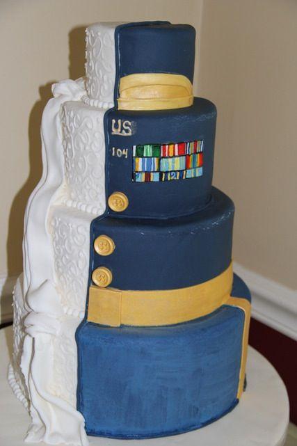 Army wedding cake done by @Kim Hagenbuch