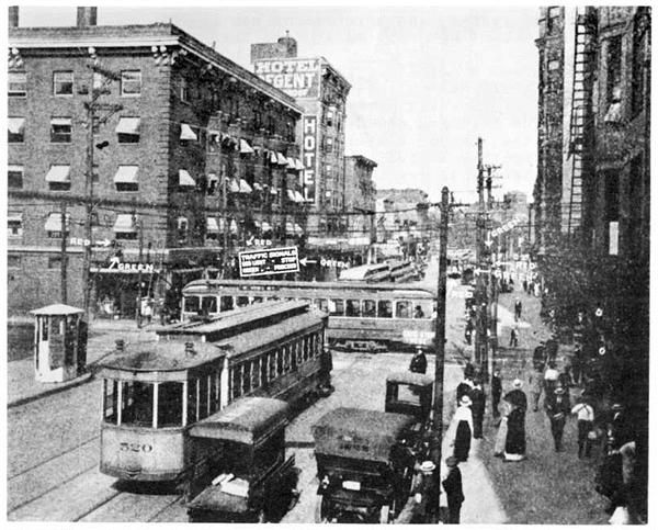 On August 5, 1914, the world's first electric traffic signal is put into place in Cleveland.