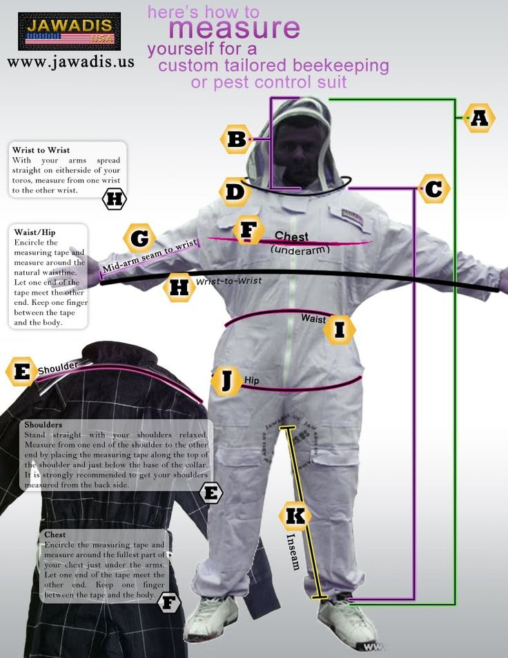 Jawadis How to Measure Bee Suit
