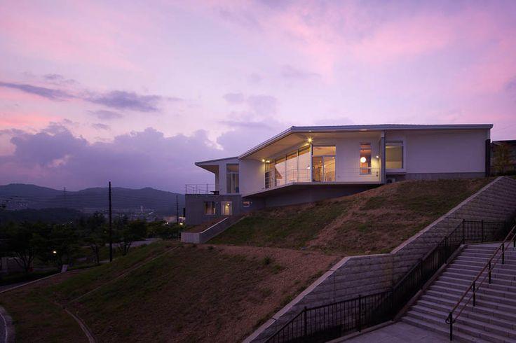 混構造の家 house in a view 景色の中の家 アーキッシュギャラリー