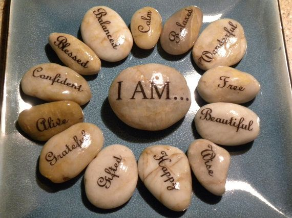 inspiration word stones set of 14 i am blessed