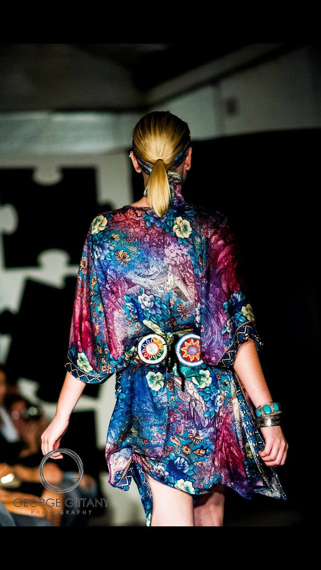 Silky Jean Fashion Show SS15 #silkyjean #silk #kimono  #fashionshow www.silkyjean.com