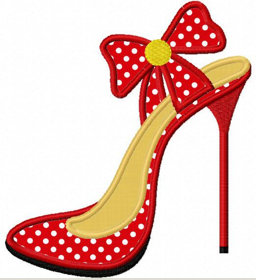 Instant Download High heel  Applique Machine Embroidery Design NO:1147                                                                                                                                                                                 Mais                                                                                                                                                                                 Mais
