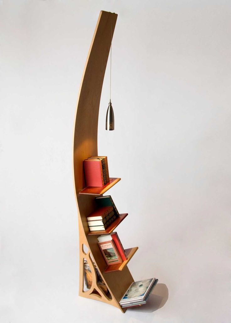 Curvature bookshelf | WoodShop Artisans