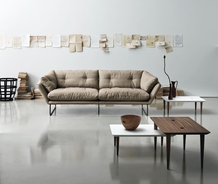 New York Suite by Saba: sofa, lounge chair, pouf