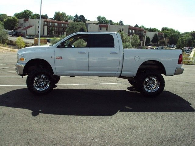white  Lifted Dodge Ram 2500