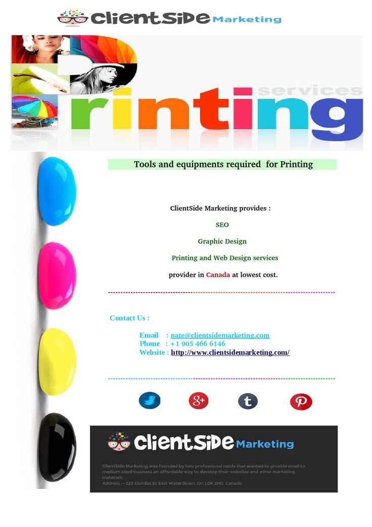 7 best clientside marketing images on pinterest marketing printing oakville colourmoves
