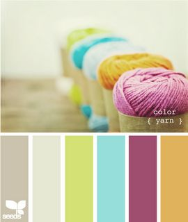 Relaxing palette that would blend nicely from living room to kitchen