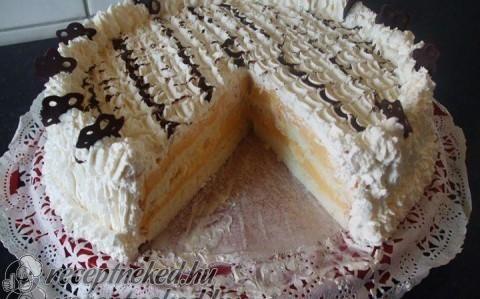 Madártej torta recept fotóval