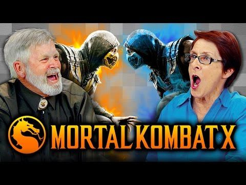Watch older folks play Mortal Kombat X: 'This should be illegal!' | Polygon