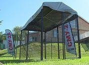 Вольер для собак 3,0х1,5х1,8 м. из сварных панелей (клетки и вольеры для домашних животных, кошек, собаки)