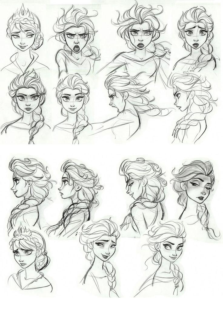 Personagens de Frozen, por Brittney Lee e Jin Kim