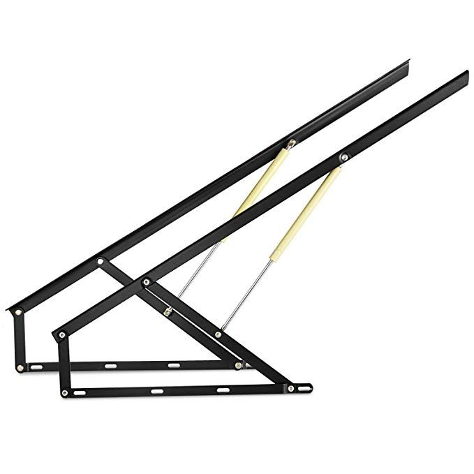 Happybuy Pair Of 4ft Pneumatic Storage Bed Lift Mechanism Heavy