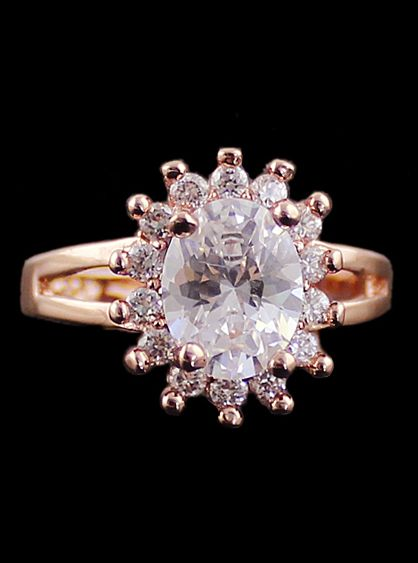 Gold Diamond Sun Ring 8.60