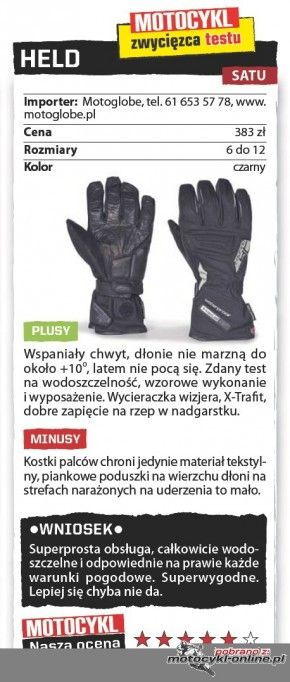 Test rękawic uniwersalnych – wszystko w Twoich rękach - Motocykl Online - strona 1