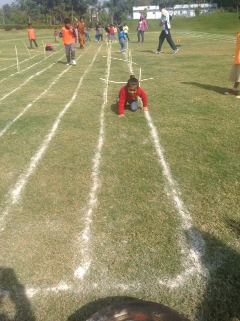 Advik showing how to cross the hurdle #GGIS #RepublicDay #SportsDay