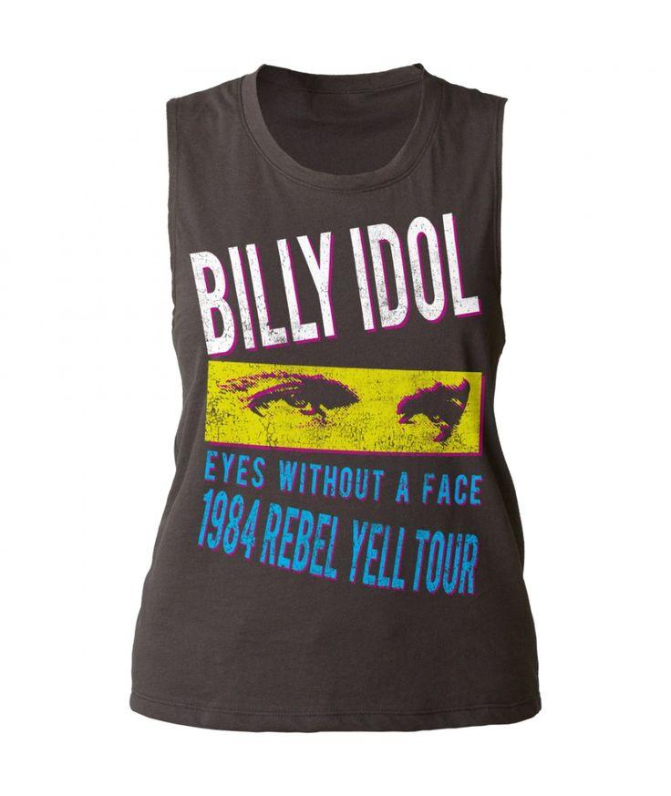 Billy Idol Rebel Yell Tour '84 juniors muscle tank