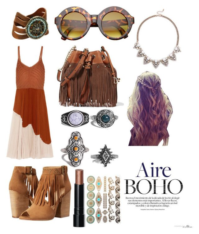 """boho"" by veronika-grabanova on Polyvore featuring Jason Wu, Chinese Laundry, Diane Von Furstenberg, Sole Society, Leatherock, Boohoo and Bobbi Brown Cosmetics"