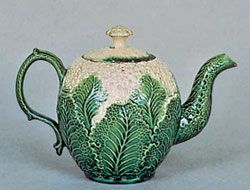 Cauliflower ware: Sometime in the 1760s, a potter named William Greatbach created cauliflower tureens, cabbage bowls, lettuce pots, pineapple teapots and stands. Josiah Wedgwood did the glazing.