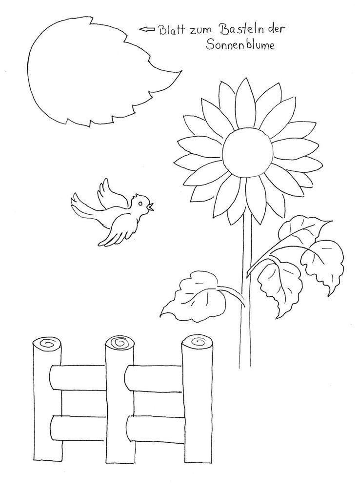 sprachförderung mit kindern im herbst  die sonnenblume