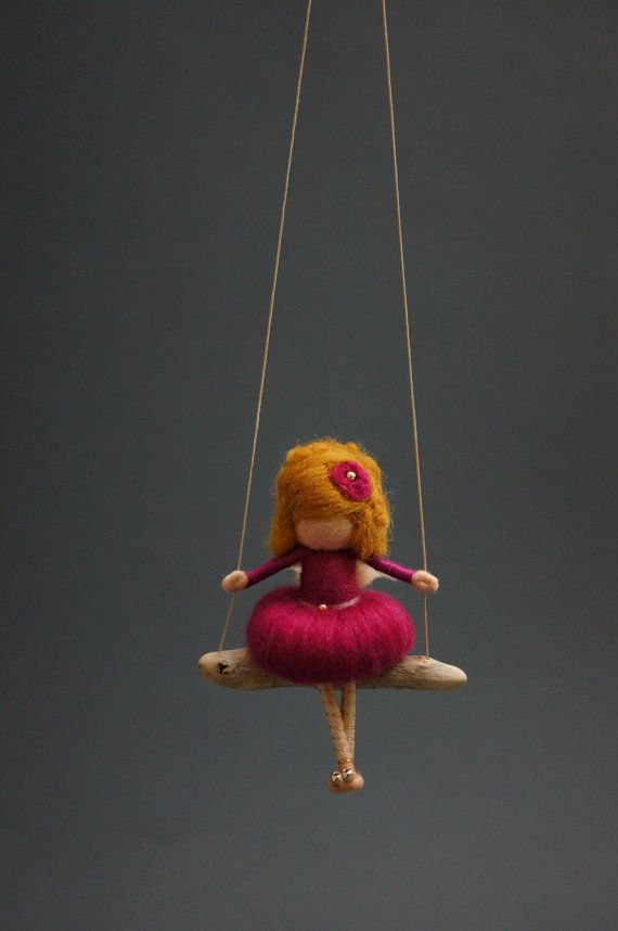 Needle Felted Fairy Doll  orchid by DORIMU on Etsy