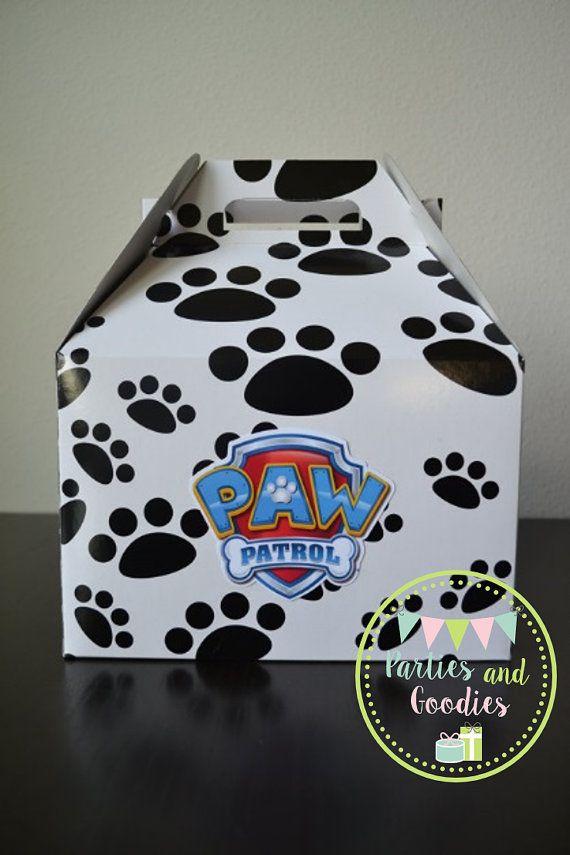 Set of 10 Large Paw Patrol Goodie Boxes Party by PartiesandGoodies