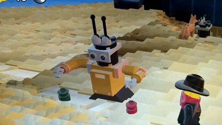 It looks like Bender from Futurama is in LEGO Worlds