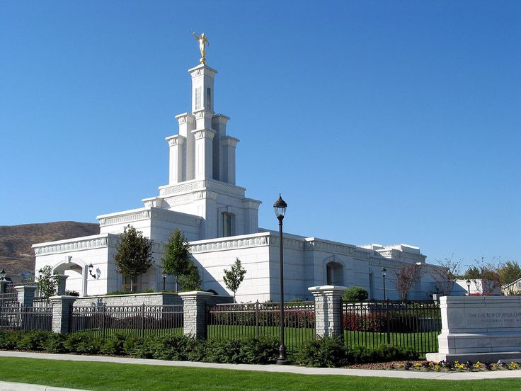 Click to enlarge this image of the Columbia River Washington Mormon Temple