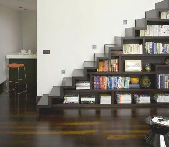 Modern storage ideas for small spaces staircase design - Soluciones escaleras poco espacio ...