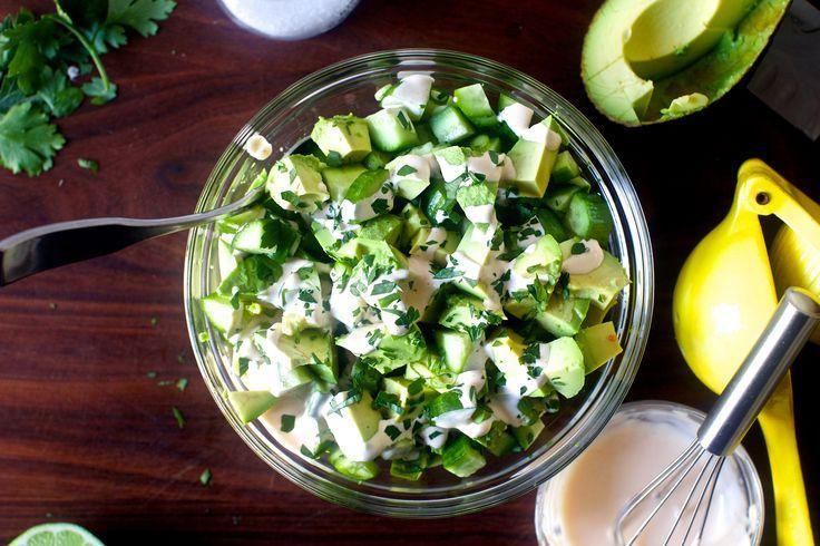 obsessively good avocado cucumber salad | smittenkitchen.com