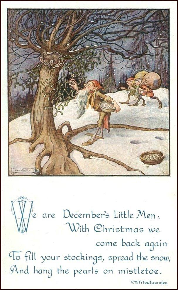 Gnomes-Hanging-mistletoe