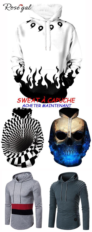 ffcd32532 Sweat à capuche motif 3D pour homme sweat-shirt chic #Rosegal #sweat ...