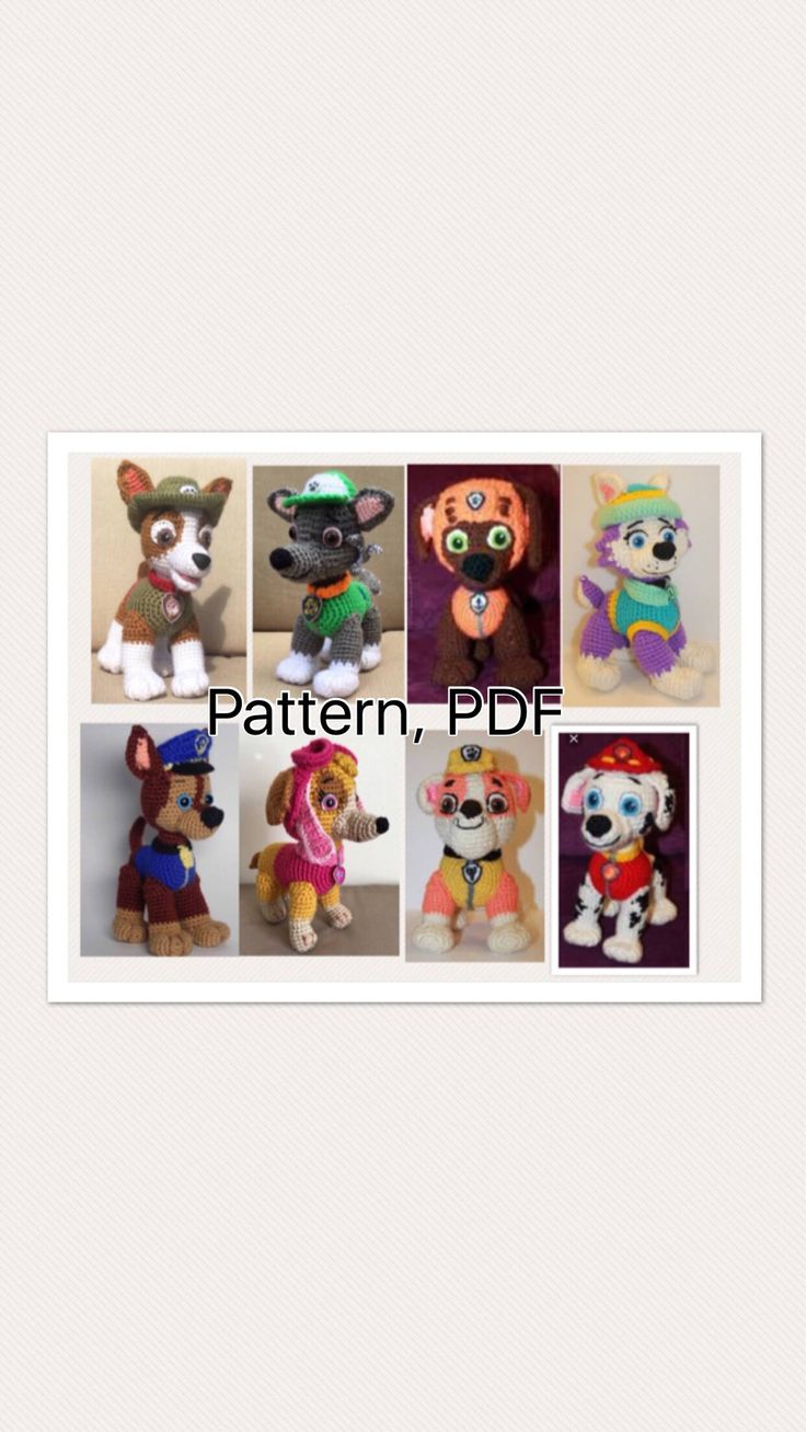 A personal favorite from my Etsy shop https://www.etsy.com/listing/472150935/paw-patrol-crochet-pattern-marshall