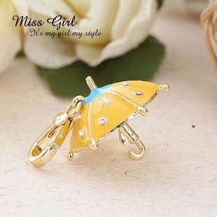 Swarovski Crystal Gift Yellow Umbrella Designer Charms Pendants Keychains | eBay $10.99