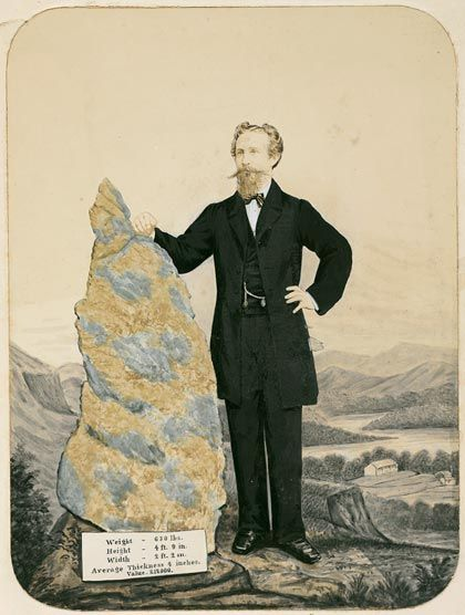 B.O. Holtermann with gold nugget, ca. 1873, by Charles Bayliss