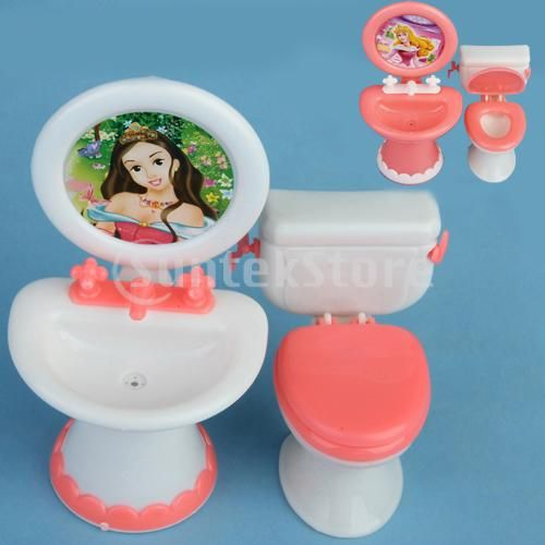 barbie dollhouse furniture cheap. barbie doll house dollhouse furniture bathroom set toilet and sink cheap