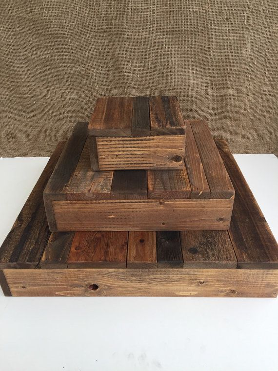 Rustic wood cupcake stand tiered wedding by CountryCharmWoodWork                                                                                                                                                                                 More