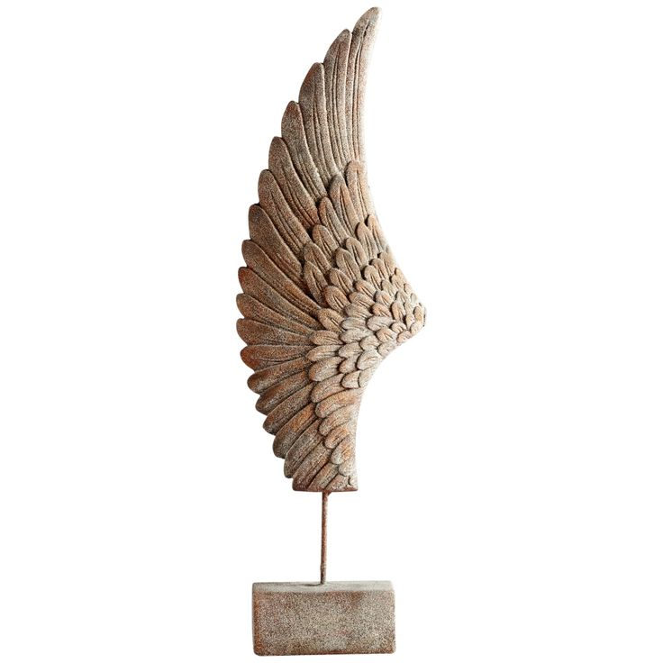 "Cyan Design Feathers Of Flight Left 36""H Rustic Sculpture - Style # 19K85"