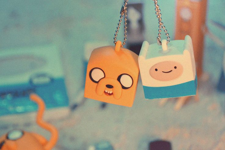 Adventure Time. These would make awesome ceiling fan pulls.