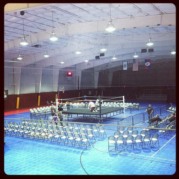 Ranson Civic Center Ranson, WV hours before AWL Showdown featuring ROH Star Adam Cole facing WWE Star Charlie Haas