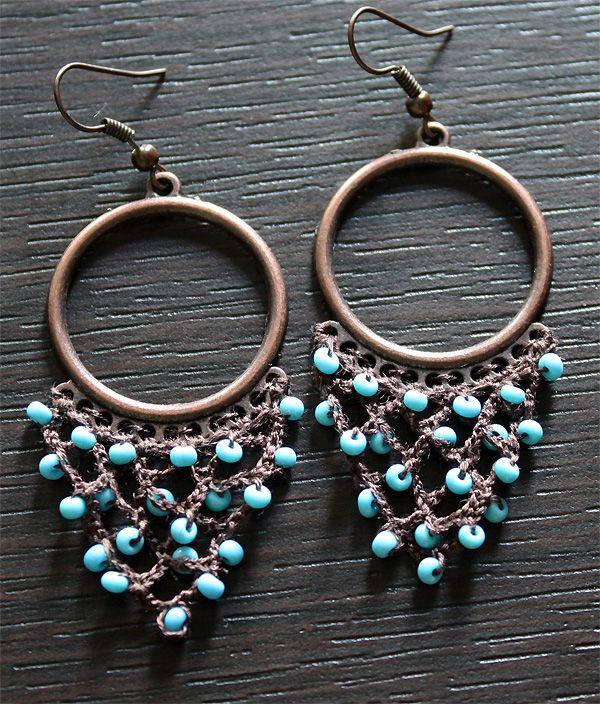 #Crochet with beads #earrings tutorial - Ажурные сережки в восточном стиле - Украшения, аксессуары - Рукодельничаем - Минчанка: быть женщиной - это интересно!